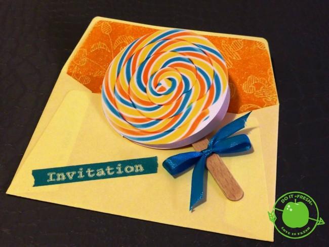 invitation sucette